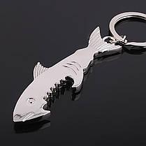 Cutely Shark Glossy Брелок Щепка Металлическая открывашка для бутылочек Мини Многофункциональная Брелок - 1TopShop, фото 2