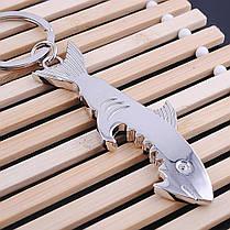 Cutely Shark Glossy Брелок Щепка Металлическая открывашка для бутылочек Мини Многофункциональная Брелок - 1TopShop, фото 3