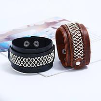 Широкий ретро-браслет Soft Кожа Винтаж Браслет Черный коричневый браслет для мужчин - 1TopShop, фото 2