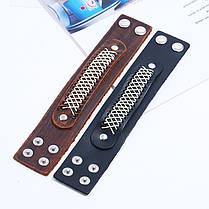 Широкий ретро-браслет Soft Кожа Винтаж Браслет Черный коричневый браслет для мужчин - 1TopShop, фото 3