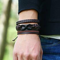 Многослойный браслет в стиле ретро Soft Набор из 6 браслетов из кожи Винтаж Мужской браслет - 1TopShop, фото 2