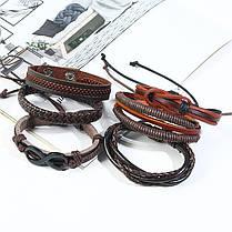 Многослойный браслет в стиле ретро Soft Набор из 6 браслетов из кожи Винтаж Мужской браслет - 1TopShop, фото 3