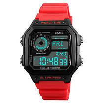 SKMEI1373ОбратныйотсчетКомпасВодонепроницаемы LED Цифровые часы Спортивные мужские наручные часы в стиле - 1TopShop, фото 3