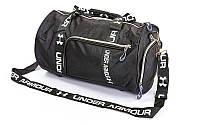 Сумка спортивная боченок UNDER 43*23*23 см черная, фото 1