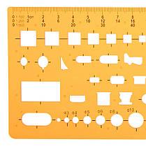 Архитектурный план Дизайн Шаблон чертежа KT Soft Plastifc Линейка строительного опалубка - 1TopShop, фото 3