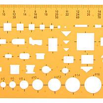 Архитектурный план Дизайн Шаблон чертежа KT Soft Plastifc Линейка строительного опалубка - 1TopShop, фото 2