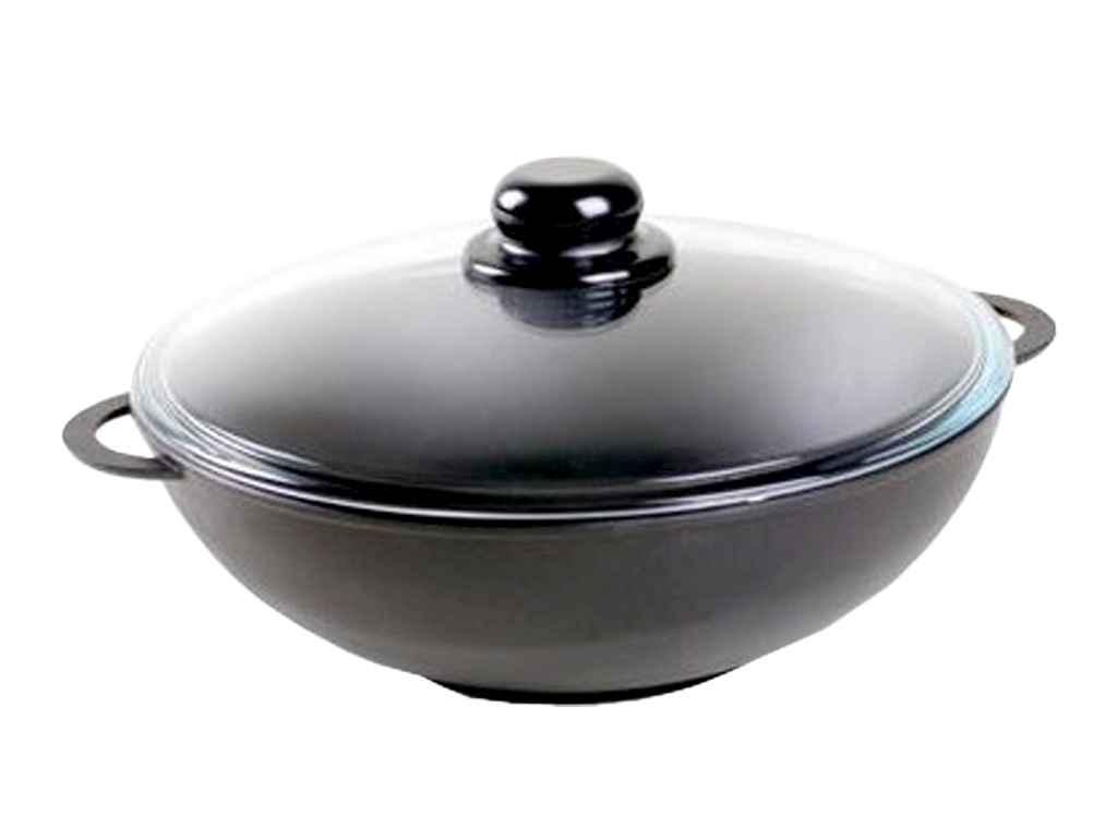 """Сковорода с антипригарным покрытием 28 см WOK стеклянная крышка (2803РС) """"БИОЛ"""""""