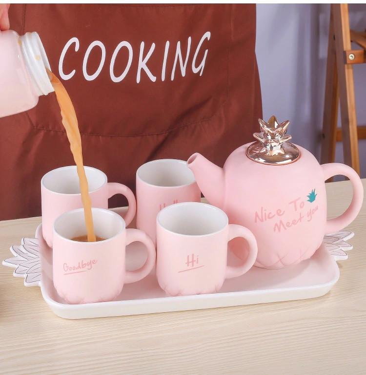 Чайный набор 6 предметов (керамика) 3016-38