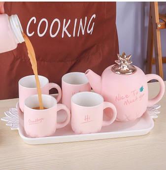 Чайный набор 6 предметов (керамика) 3016-38, фото 2