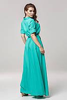 Женское платье из штапеля однотонное Lipar Бирюза Батал