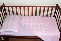 Постельный комплект ручной работы в детскую кроватку (001)