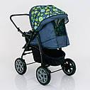 Детская коляска-трансформер зеленая абстракция Viki 86 Karina деткам от рождения до 3 лет, фото 4