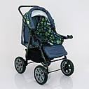 Детская коляска-трансформер зеленая абстракция Viki 86 Karina деткам от рождения до 3 лет, фото 8