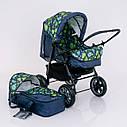 Детская коляска-трансформер зеленая абстракция Viki 86 Karina деткам от рождения до 3 лет, фото 7