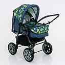 Детская коляска-трансформер зеленая абстракция Viki 86 Karina деткам от рождения до 3 лет, фото 9