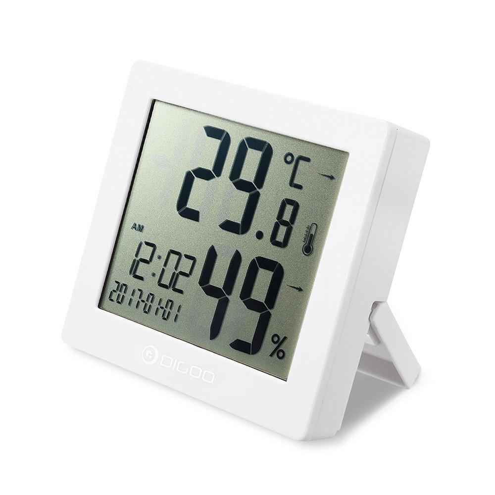 DIGOODG-C11ГигрометрЧасыЦифравойТермометр Ежедневный календарь звонков Ежедневнные Часы - 1TopShop