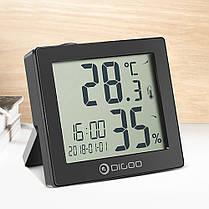 DIGOODG-C11ГигрометрЧасыЦифравойТермометр Ежедневный календарь звонков Ежедневнные Часы - 1TopShop, фото 2