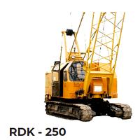 Аренда гусеничного дизель - электрического крана RDK 250