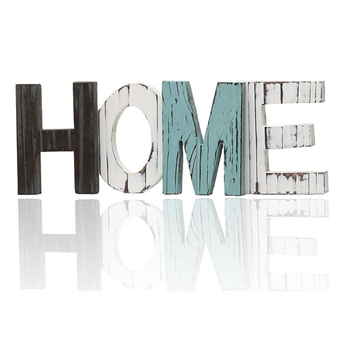 РетроВудЗнакГЛАВНАЯДекоративныйОрнамент Вырез Вуд Слова Домой Многоцветный Украшения - 1TopShop