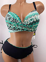 Купальник для большого бюста Комбицвет 58812 зеленый на 46 48   размер.
