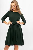 Женское платье с бантом на поясе Lipar Зелёное