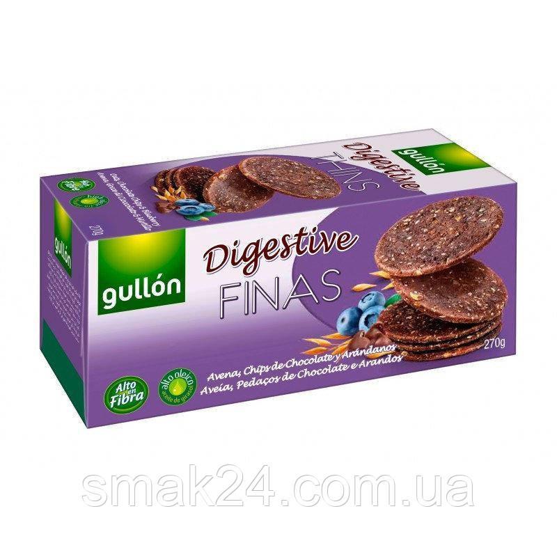 Печенье злаковое с черникой Digestive Thins Gullon 270 г Испания