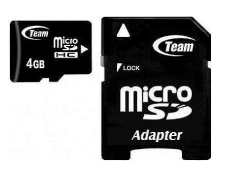 Карта памяти Team Micro SDHC 4Gb Team Class 10