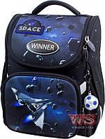 Школьный портфель с ортопедической спинкой для мальчика, ранец раскладушка WINNER ONE SPACE W2030 1-4 класс