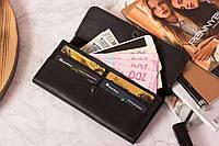 Жіночий гаманець з натуральної шкіри «Класика»