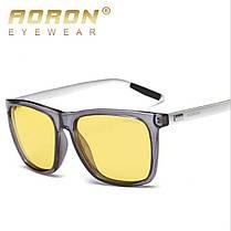 AORON Алюминиевые мужские поляризованные солнцезащитные очки для вождения Очки с антибликовым покрытием ночного видения Объектив - 1TopShop, фото 2