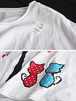 Женские повседневные хлопковые льняные футболки Crew Шея - 1TopShop, фото 3
