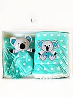 Одеяло-плед двухстороннее Minky Коала BabyOno + игрушка
