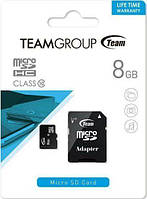 Team MicroSDHC 8 GB Class 10 + adapter