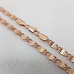 Цепочка, плетение Улитка, розовое золото, 50х5 мм