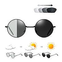 Очки солнцезащитные фотохромные хамелеоны VIVIBEE V4003 круглые черные