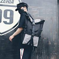 Рюкзак мужской Черный с серыми вставками