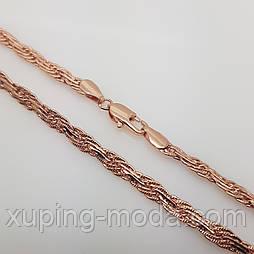 """Цепочка женская, плетение """"Колос"""", розовое золото, 50х5 мм"""