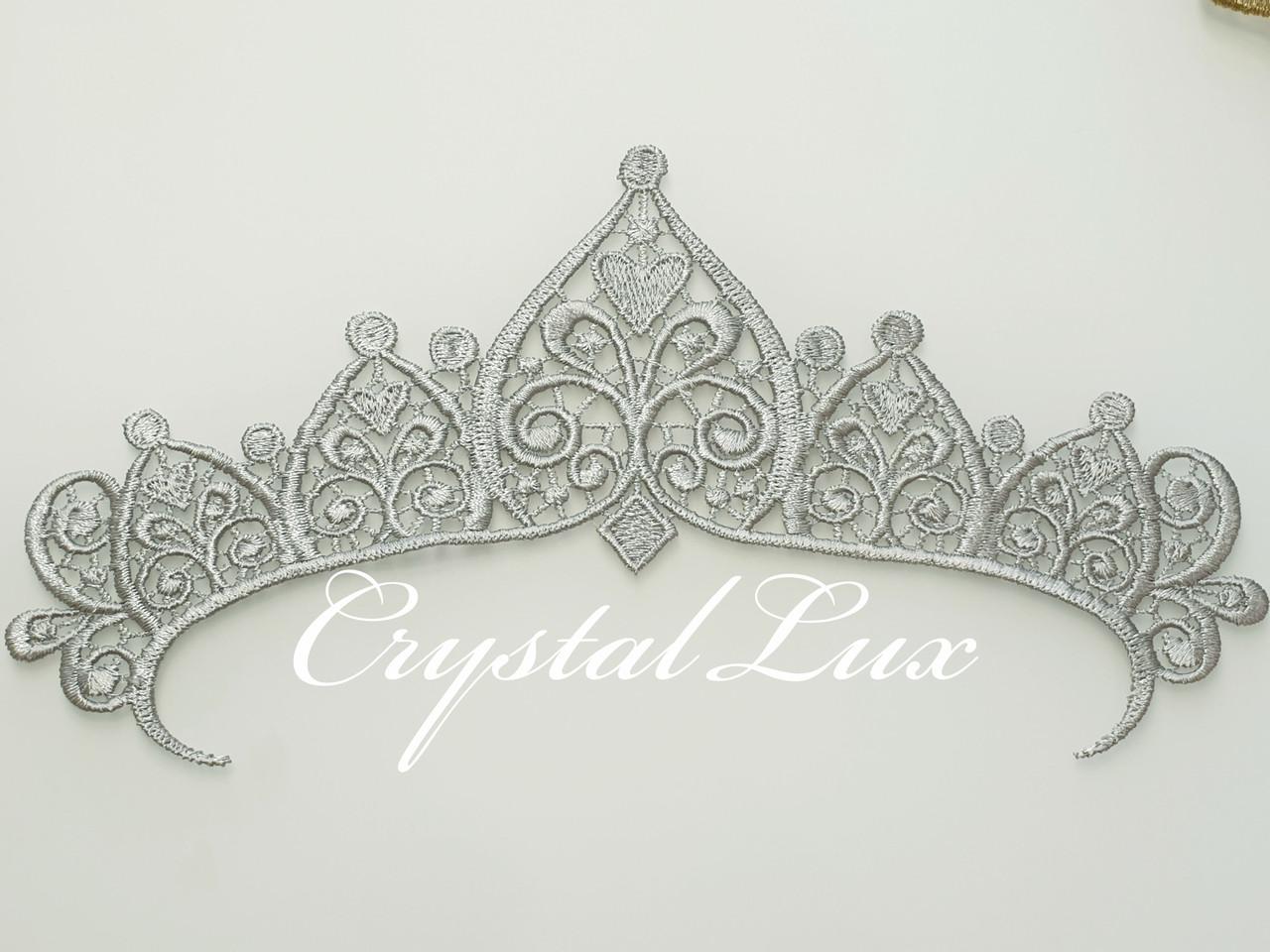 Корона кружевная 27,5*14,5см Silver 1шт