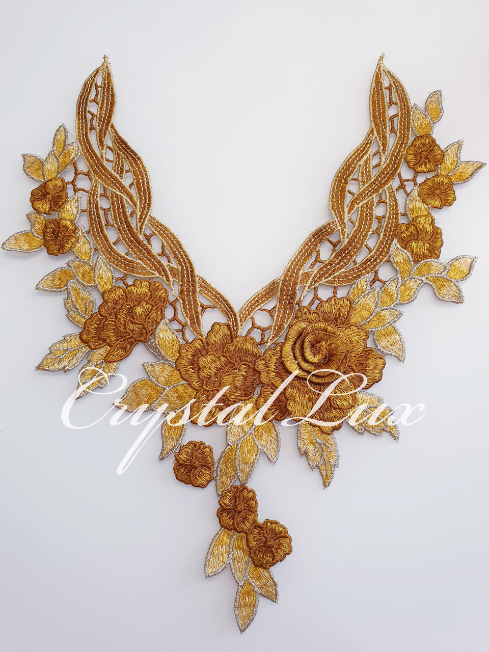 Воротник декоративный 3D, 32*32см Gold Yellow 1шт