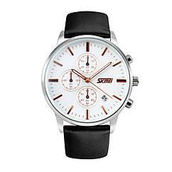 Часы Skmei 9103 White Dail Black Strap BOX 9103BOXWBKS, КОД: 116348