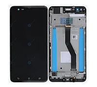 Дисплей (экран) для Asus ZenFone 3 Zoom (ZE553KL) + с сенсором (тачскрином) и рамкой черный Оригинал
