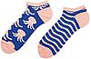Короткие носки мужские Sammy Icon Octo Short 40-46 Сине-кремовые, фото 2