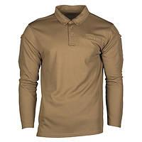Тактическая рубашка POLO. TACTICAL QUICK DRY POLOSHIRT 1/1 ARM COYOTE.