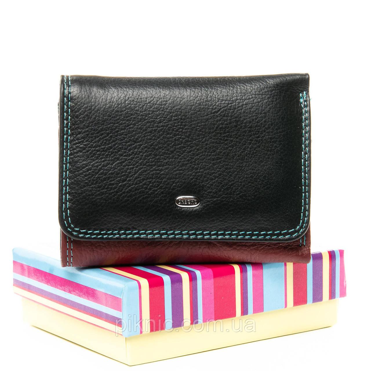 Женский кожаный кошелек, клатч, портмоне Dr Bond. Из натуральной кожи. Черный