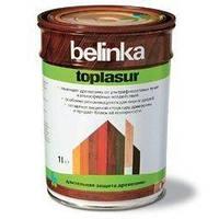 Толстослойная лазурь для дерева BELINKA TOPLASUR (белый) 1 л