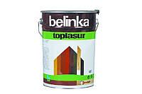 Толстослойная лазурь для дерева BELINKA TOPLASUR (белый) 10 л