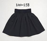 Классическая школьная детская юбка р. 140-158 ЧЕРНЫЙ, фото 1