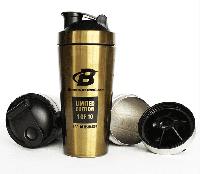 Металический шейкер Bodybuilding.com Golden Steel Shaker (750 ml)