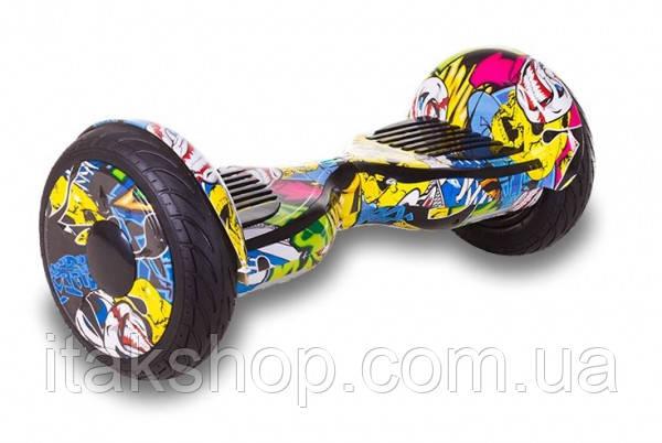 Гироборд Smart Balance Wheel U8 TaoTao APP 10,5 дюймов Hip-Hop (графити) с самобалансом и колонкой