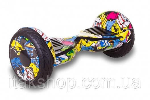 Гироборд Smart Balance Wheel U8 TaoTao APP 10,5 дюймов Hip-Hop (графити) с самобалансом и колонкой, фото 2